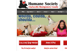 Tablet Preview of clarksvillehumanesociety.org